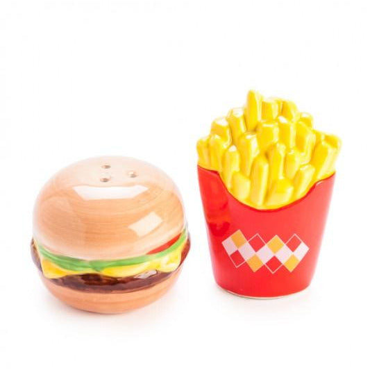 novelty burger and chips salt and pepper shaker