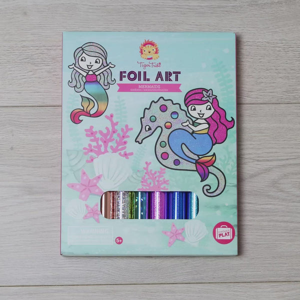 foil art mermaids tiger tribe video