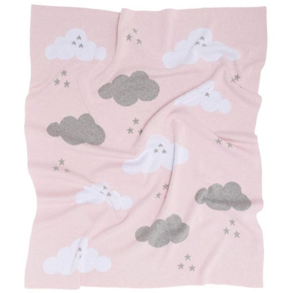 Kenzi Pink cloud cotton baby blanket