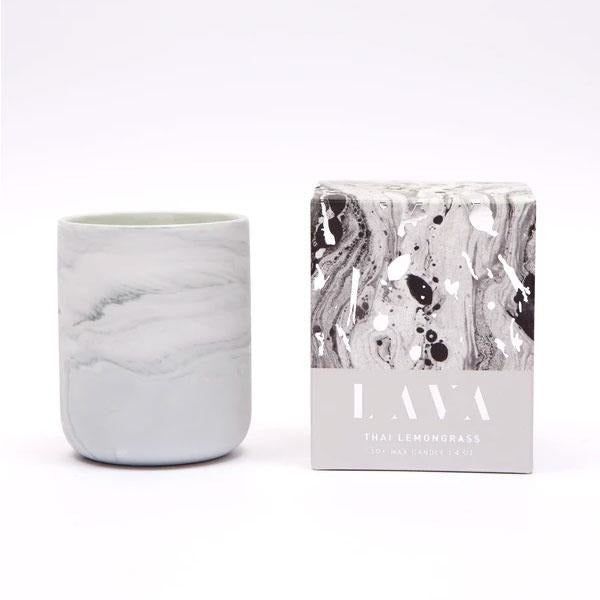 Serenity Thai Lemongrass Lava Ceramic Candle 4oz