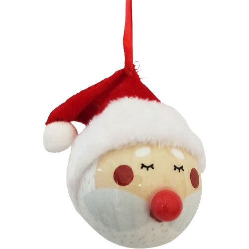 red santa bauble gift box