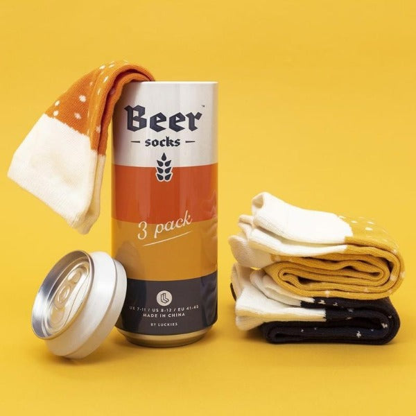 Socks in a beer can