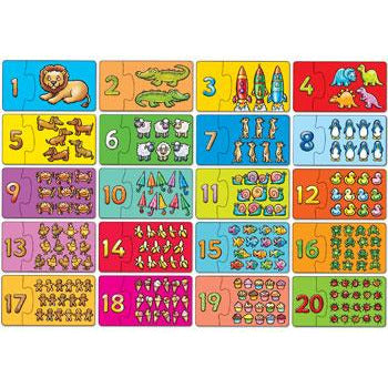match and count kids game