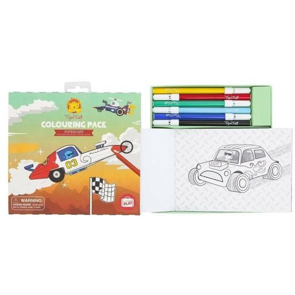 Supercars Colouring Pack
