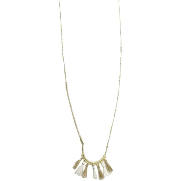 Beige Tassel Necklace