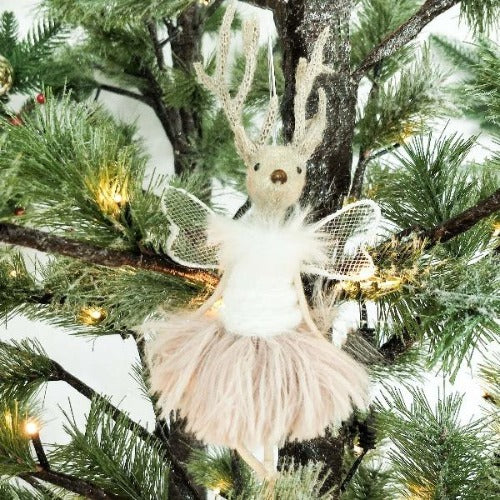 Christmas ballerina reindeer decoration