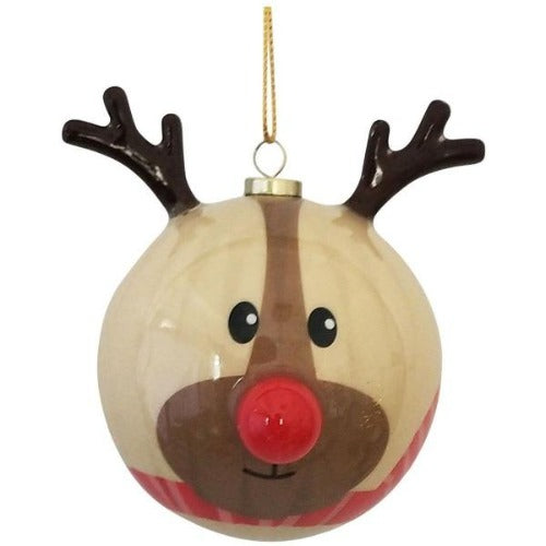 brown bauble reindeer gift box