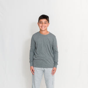 JERSEY LONG SLEEVE T-SHIRT - GREY