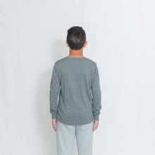 Load image into Gallery viewer, JERSEY LONG SLEEVE T-SHIRT - GREY