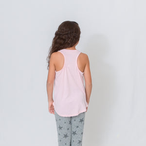 GIRLS AT EASE TANK - PALE PINK