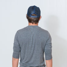 Load image into Gallery viewer, HERRINGBONE TRUCKER CAP - NAVY / NAVY