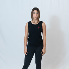 Load image into Gallery viewer, SCOOP MUSCLE TANK - BLACK SLUB