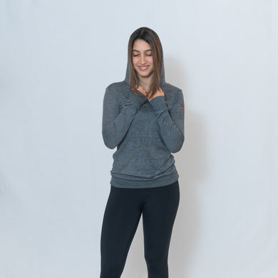Be the Light Ari Arteaga Foundation Burnout Hoodie in Dark Gray