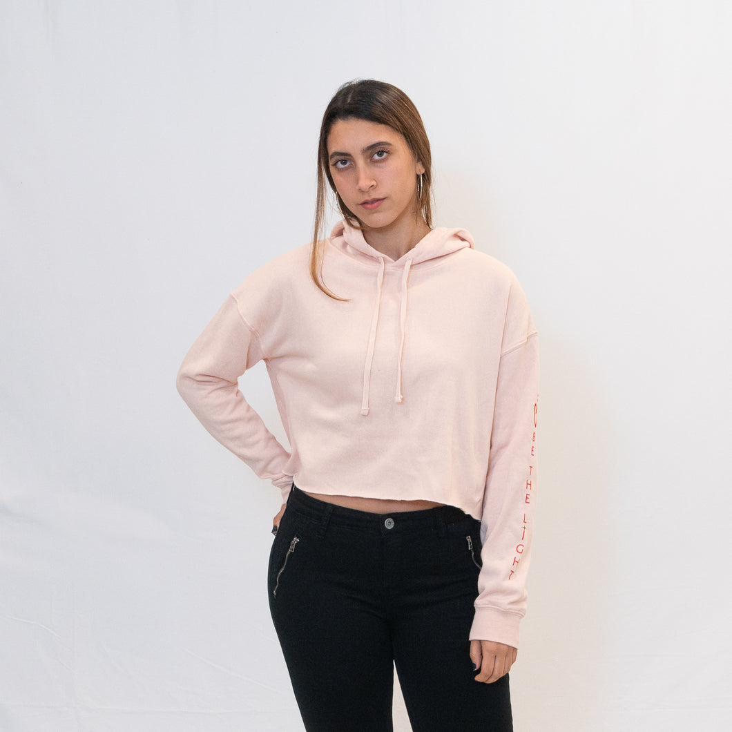 Be the Light Ari Arteaga Foundation Cropped Hooded Sweatshirt in Blush