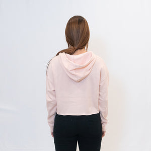 Be the Light Ari Arteaga Foundation Cropped Hooded Sweatshirt in Blush Rear View