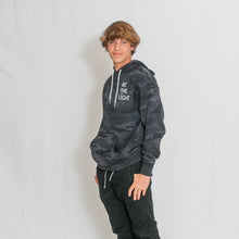 Load image into Gallery viewer, LIGHTWEIGHT HOODED SWEATSHIRT - CAMO  BK