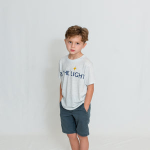 YOUTH PERFECT TEE - WHITE HEATHER