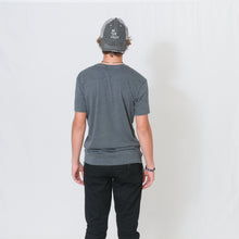 Load image into Gallery viewer, Be the Light Unisex Frayed Trucker Cap in Black/Gray