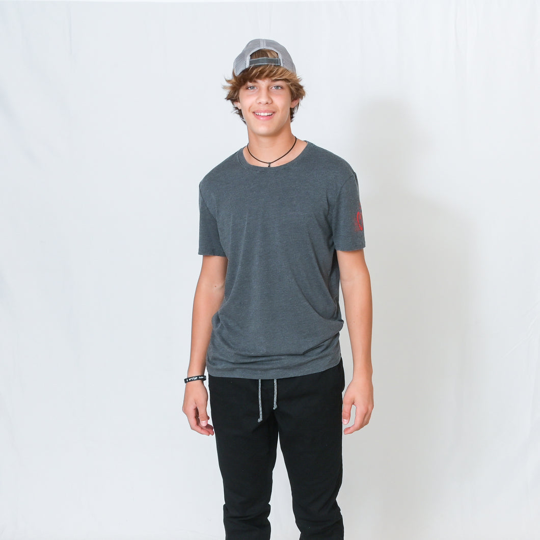 VINTAGE SHORT SLEEVE T-SHIRT - CHARCOAL