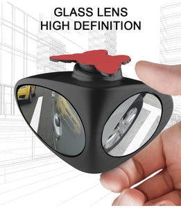 1 Piece Car Blind Spot Mirror 360 Degree Convex Rotatable 2 Side Automibile Exterior Rear View Parking Mirror Safety Accessories