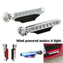 Load image into Gallery viewer, Wind Driven Car Front Lights Automatic Wind Power 8 LED Car Light One Set Of 2 pcs