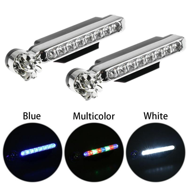 Wind Driven Car Front Lights Automatic Wind Power 8 LED Car Light One Set Of 2 pcs