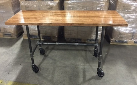 Vintage Industrial Oak Top Desk