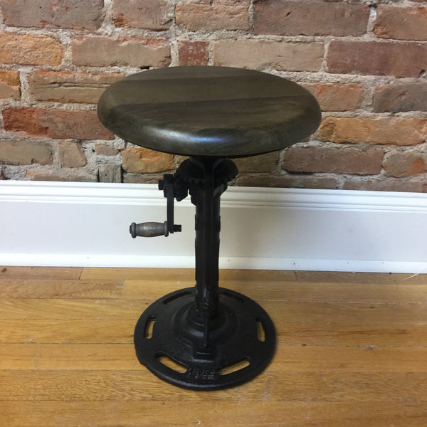 Rockwell Gear Stool Vintage Industrial Supply