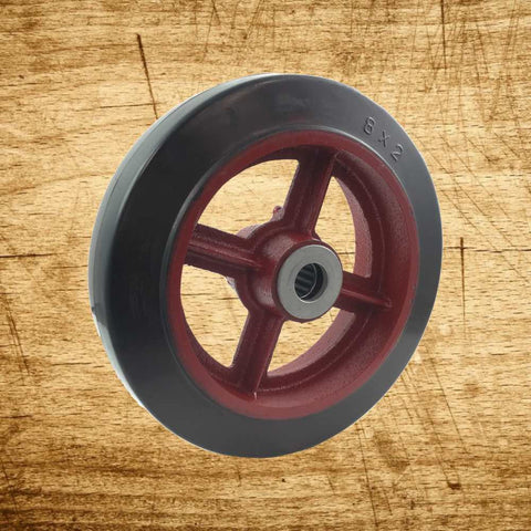 Wheel Only - Rubber Tread - Spoke Wheel Hub