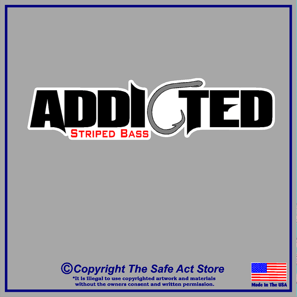 Addicted-Striped Bass Decal