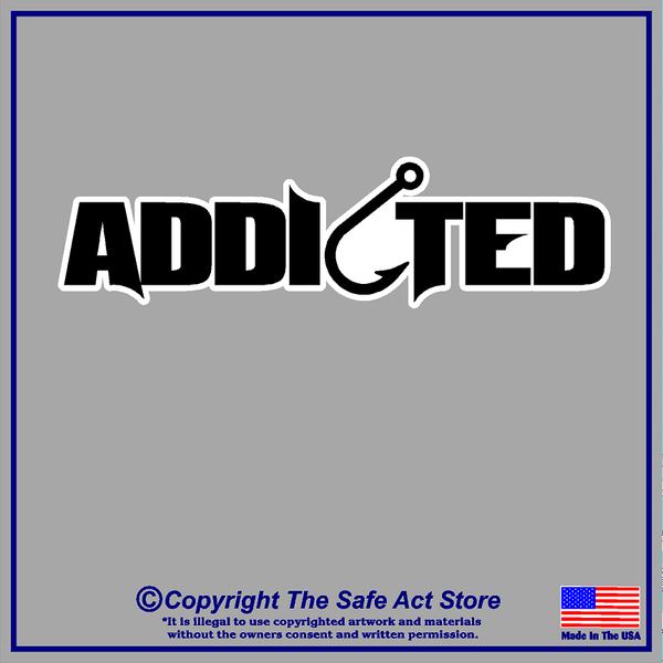 Addicted-Fishing Decal