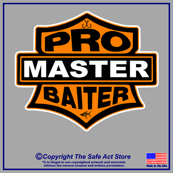 Pro Master Baiter - Funny Fishing Decal