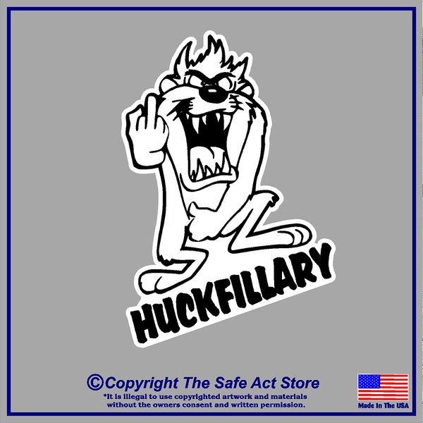 Taz Flipping Off Hillary Decal