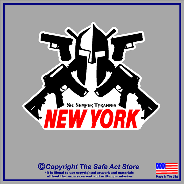 New York Pro Gun Decal