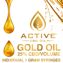 Load image into Gallery viewer, Active CBD Oil - Gold 25%