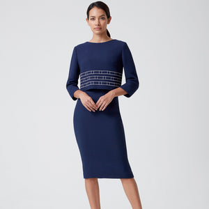 Designer dresses for work by London's Lalage Beaumont