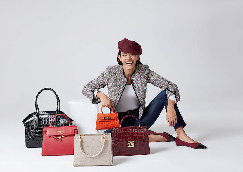 Lalage Beaumont's handbags are made in Spain and Italy by the very best artisan makers. And although we do use leather, we try to adhere to our ethical values by working with small, independent factories, which pride themselves on producing exquisite quality handbags.