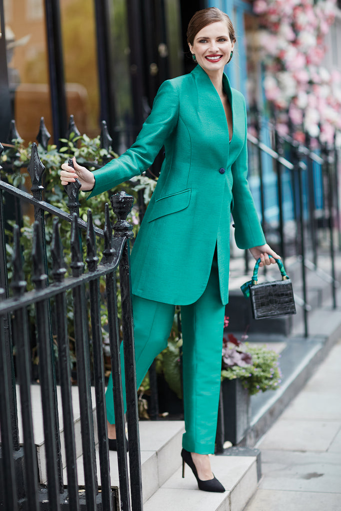 Tailored Green Suit - Lalage Beaumont. Mother of the Bride or groom outfit