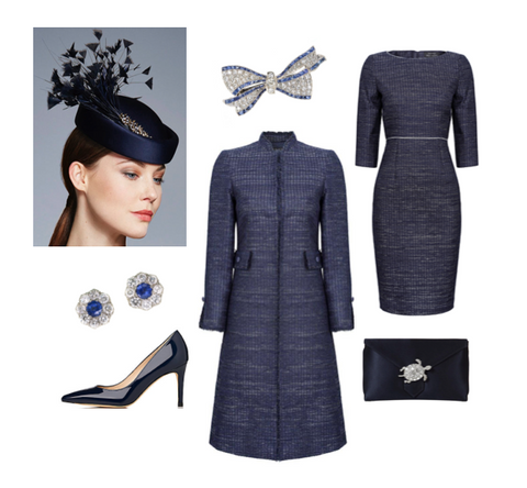 blue winter wedding ideas for mothers of the bride