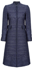 blue tweed dress jacket