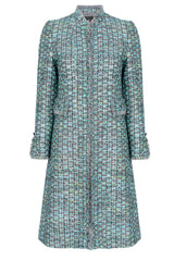 green tweed dress coat for weddings