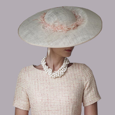Hats for weddings in London by Lalage Beaumont