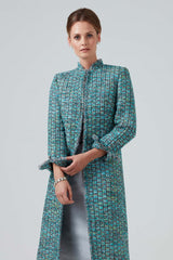3/4 length womens tweed jacket