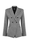 Shaped jacket in plain raw silk with wist fastening - Marina