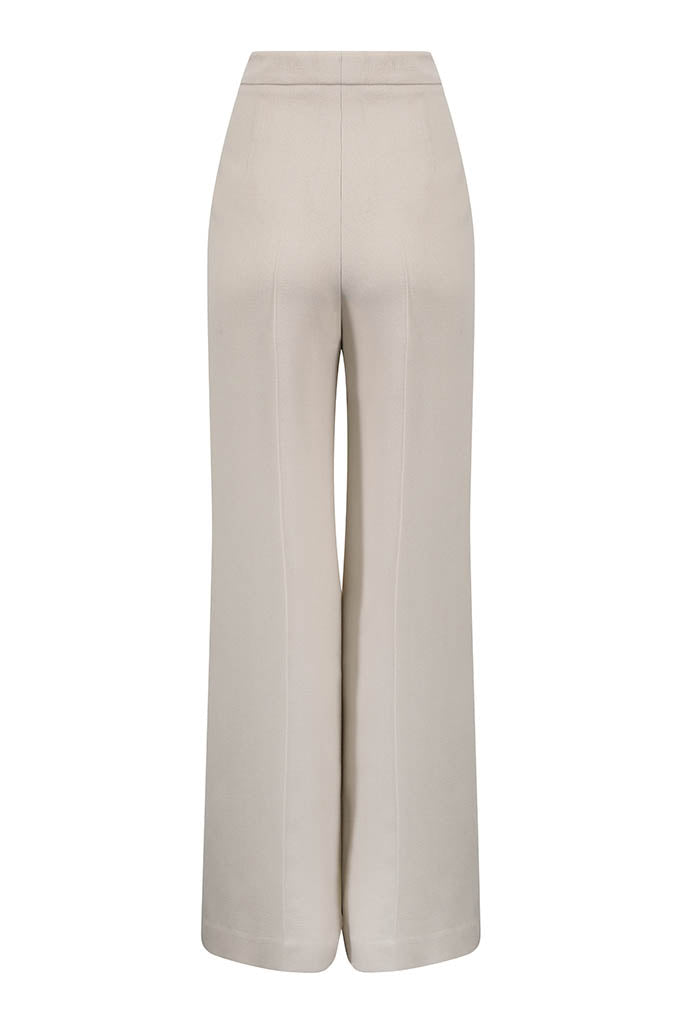 Beige Faille Trousers - Portia