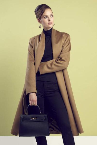 Camel Cashmere Wool Coat - Berkeley