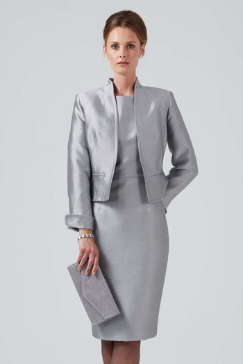 mother of the bride silk sateen outfit
