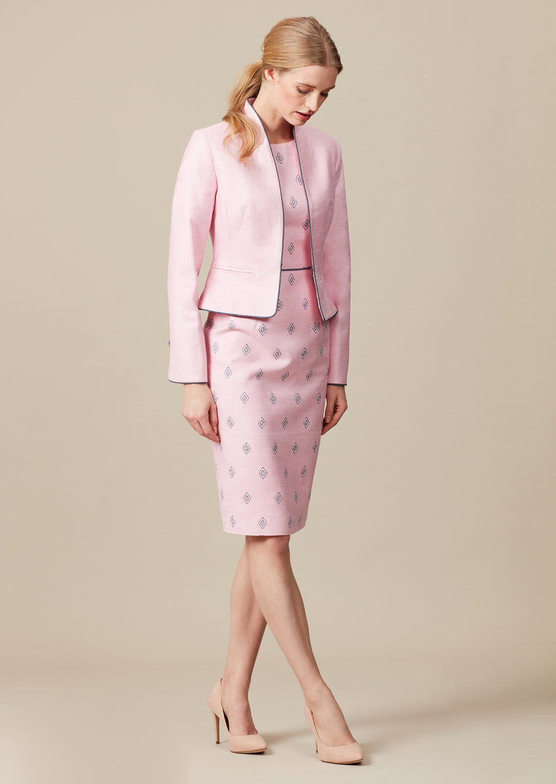 elegant pink mother of the bride outfit