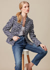 Slate Plain Raw Silk Jacket - Diana