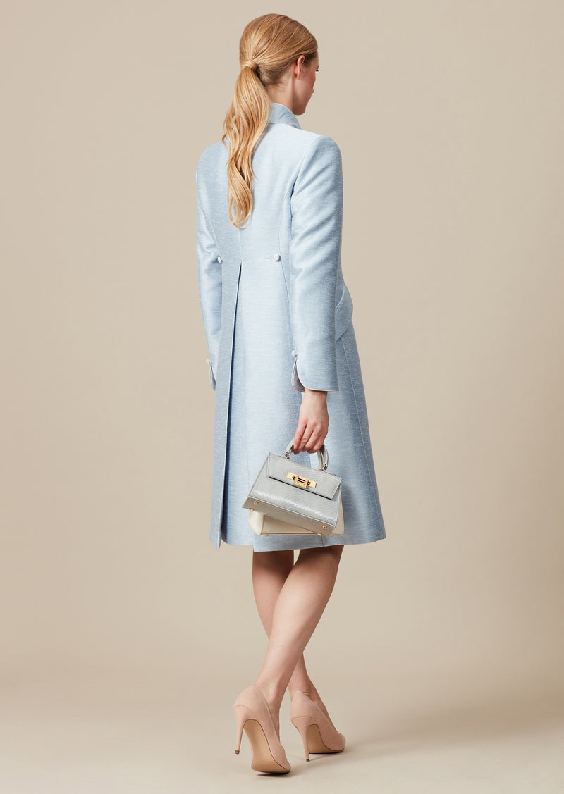 Sky Blue dress coat and matching jacket for weddings